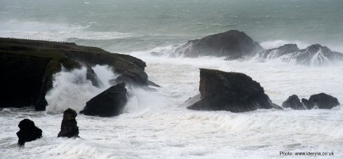 Porthcothan after the storms of 2014.